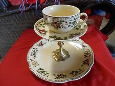 Unusual 2 Tier Food Server FABRYKA PORCELANY KSIAZ  Attached Cup- CHIP & DIP ?