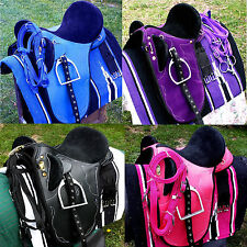Stock saddle all sizes&colors  fully mounted +bridle,bit and saddle blanket