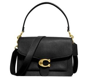 Coach Large Tabby Bag in Black Pebbled Leather Dust Bag Included