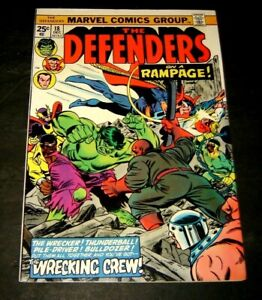 Defenders #18 (Marvel, 1974)  - 1ST FULL WRECKING CREW key   HIGH GRADE!!!