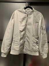 Grind Mens Size Large Light Grey Fly Weight Bomber Jacket Reflective