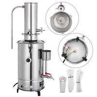 5L Lab Pure Water Distiller Stainless Steel Moonshine Medical Home Dental Clinic