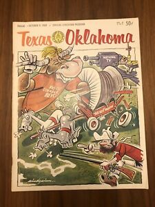 OU TEXAS OKLAHOMA COLLEGE FOOTBALL PROGRAM OCTOBER 11 1969