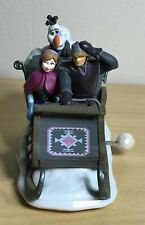 Disney Store Frozen Wind Up Sled Sleigh Anna Kristoff Olaf Authentic