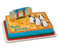 Penguins of Madagascar cake decoration Decoset cake topper set