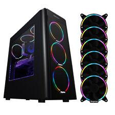 Segotep PC Gaming Computer Desktop Case 6x Cooling Fans USB 3.0 Black Mid Tower