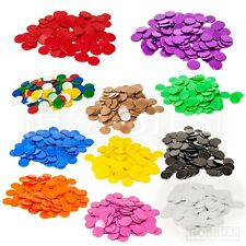 Counters 15mm Tiddly Winks Plastic Opaque Board Game White Blue Green Black Gold