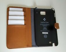 Case Cover For Samsung Galaxy Note Button Closer Faux Leather Wallet Hard Shell