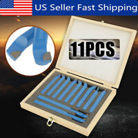 11PCS Lathe Indexable Carbide Insert Grooving Tool Turning Cutting Tool Set 12mm