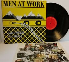 MEN AT WORK Business As Usual Vinyl LP Columbia FC 37978 - Play Tested VG+  *A1