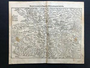 024 Antique Original 1570 Bohema,Czech Republic Germany, Austria, Slovakia
