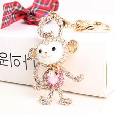 Long Tail Monkey Lovely Fashion Cute Crystal Purse Bag Key Chain Gift Wholesale