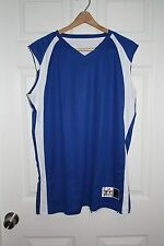 Women's Alleson Athletic Reversible Blue White Basketball Jersey Large L