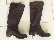 Ladies Clarkes Brown Leather Boots Size 39