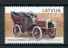 Latvia 2017 MNH Motor Museum History of Automobiles Krastin 1v Set Cars Stamps