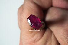 AAA RUBINO NATURALE - NATURAL RUBY CT 3.13 VVS REDDISH PINK FANCY CUT ORIGIN MAD