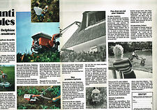 PUBLICITE ADVERTISING 045  1973  HONDA  motoculteur ( 2pages) DELPHINE & HUBERT