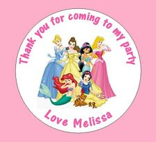 Personalised Disney Princesses 45mm Birthday Stickers Party Thank You Seals