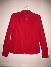 """Women's Jacket """"BLACK PEPPER"""" size 10, Poly/Spand., Coral red, lovely."""
