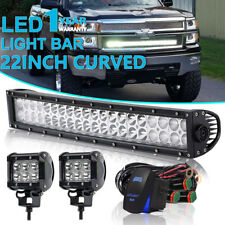 22Inch Dual Row Curved Led Light Bar For Ford F-150 2009-2014 Strobe SUV ATV UTE
