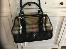 Ladies Burberry Bag Satchel Type -Nova W Black Leather