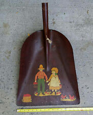 Antiue vintage Really pretty painting on AMES Shovel Farmer Couple Rooster Fruit