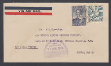 Netherlands Antilles Sc 115, C4 on 1934 FIRST FLIGHT cover CURACAO to ARUBA