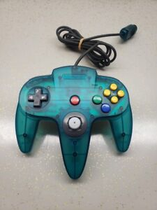 Nintendo N64 Ice Blue Controller OEM Funtastic Excellent CONDITION TIGHT STICK