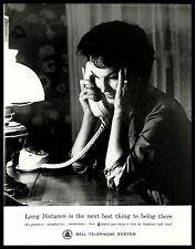 1962 Bell Telephone System Vintage PRINT AD Long Distance Phone Call Woman 1960s