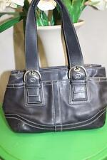 Coach #F10911 Black Leather Nickel Soho Tote Carryall Bag Purse  (PURSE 400)