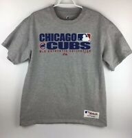 Mlb Majestic Authentic Collection 2008 Chicago Cubs Gray Mens T Shirt Size L