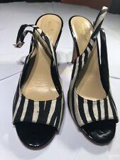 🎀 Kate Spade Zebra Print Black Bow Slingback Heels Size 10 M