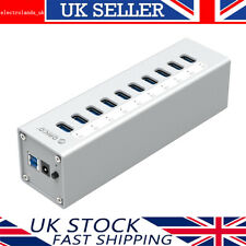 ORICO Aluminium Powered 10 Ports USB 3.0 Hub With 1M 5Gbps Cable for PC or Mac