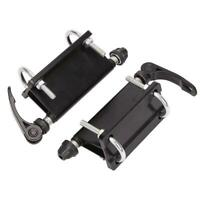 1 Pair Bicycle Block Quick-release Fork Mount For Car Bed Rack Carrier Pickup
