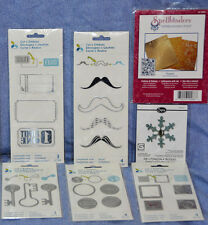 Momenta Cut & Emboss + Sizzix + Spellbinders Lot of 7 items: NEW!!  LOOK!!