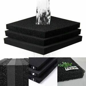 Aquatic Bio Sponge Filter Media Pad Cut To Fit Foam For Aquarium Fish Tank Ponds