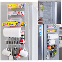 Kitchen Metal Storage Organization Refrigerator Fridge Storage Holder Rack White