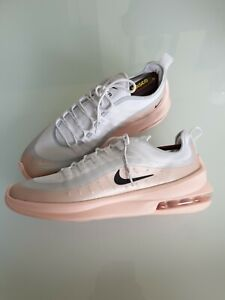 NIKE AIR MAX TRAINERS SHOES UNISEX UK SIZE 9 FLYKNIT WHITE GREY PINK.