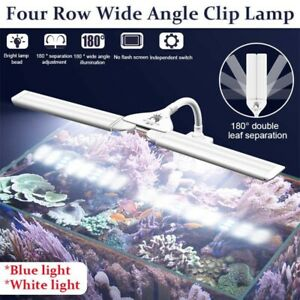 Aquarium Fish Tank Led Light Water Plant Lamp Clip-on Lighting 100-240V
