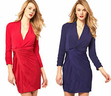 Jersey Patternless Wrap Dresses
