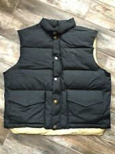 Vintage WOOLRICH Puffer Goose Down Vest Jacket USA Mens L Black Free Shipping