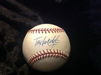 TODD HOLLANDSWORTH LOS ANGELES DODGERS SIGNED AUTOGRAPHED N.L ball OMLB W/COA