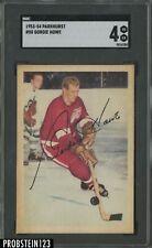 1953-54 Parkhurst Hockey #50 Gordie Howe Detroit Red Wings HOF SGC 4 VG-EX