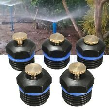 5Pc Yard Garden Gas Sprinkler Head Water Lawn Irrigation Spray System Cooling TW