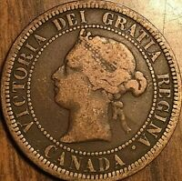 1881 H MICRO 'D' VARIETY CANADA LARGE CENT PENNY