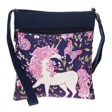 Equilibrium Butterfly Unicorn Shoulder Messenger Bag Black, Gift Idea