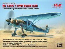 ICM Models 1/48 Hs126A1 Condor Legion Recon Aircraft w/Bomb Rack ICM48213