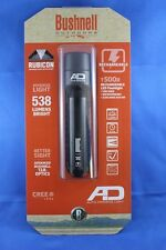 Bushnell Rubicon T500R Rechargeable LED Flashlight with Battery Aluminum Black