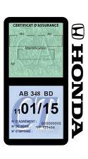Porte vignette assurance HONDA double étui voiture Stickers auto rétro