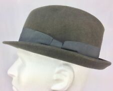 Divided by H & M 100% Wool Fedora Hat M56 Gray-Green